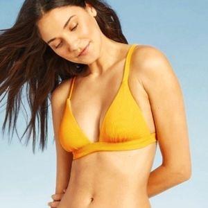 Zaful Ribbed String Bikini Padded Top